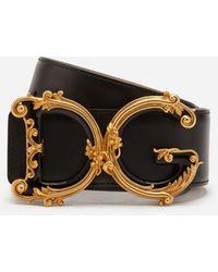 Dolce & Gabbana Ledergürtel Mit Barockem Dg-Logo - Schwarz