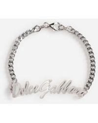 Dolce & Gabbana Dolce&Gabbana Logo Bracelet - Mettallic