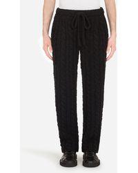 Dolce & Gabbana Knit Wool Pants - Nero