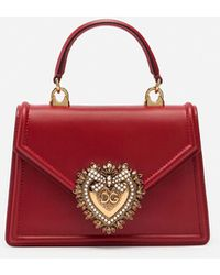 Dolce & Gabbana Borsa Devotion Piccola In Vitello Liscio - Rosso