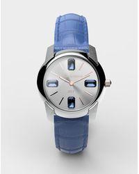 Dolce & Gabbana Reloj Con Correa De Caimán - Azul