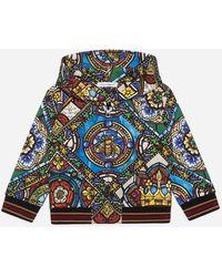 Dolce & Gabbana Jersey-Kapuzensweatshirt Glasfenster-Print - Mehrfarbig
