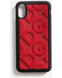 Dolce & Gabbana Rubber Iphone X Case With Dg Logo - Red