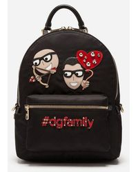 Dolce & Gabbana - Vulcano Backpack With Designers' Patches - Lyst