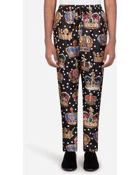 Dolce & Gabbana Pyjamahose Mit Kronen- Und Punkte-Print - Mehrfarbig