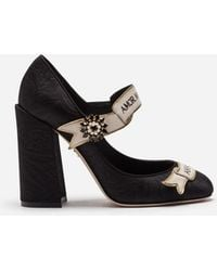 Dolce & Gabbana - Mary Jane In Brocade With Scroll - Lyst