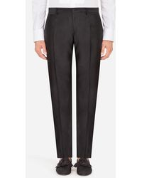 Dolce & Gabbana Silk Mikado Pants - Black