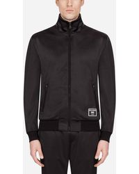 Dolce & Gabbana Zip-up Sweater With Patch - Black