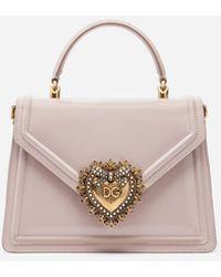 Dolce & Gabbana - Medium Devotion Bag In Polished Calfskin - Lyst