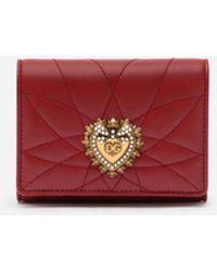 Dolce & Gabbana Portefeuille Devotion Continental Petit Format - Rouge