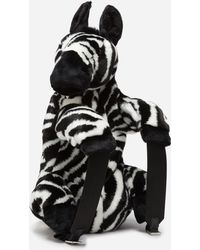 Dolce & Gabbana - Faux Fur Zebra Backpack - Lyst