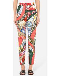 Dolce & Gabbana Patchwork Jacquard Pants - Multicolor