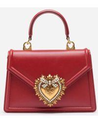 Dolce & Gabbana Mini Devotion Tote - Red