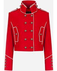 Dolce & Gabbana Single-breasted Tweed Gabbana Jacket - Red