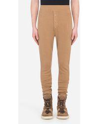 Dolce & Gabbana Wool Jogging Pants - Bianco