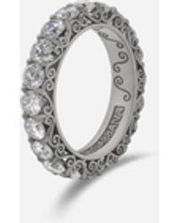 Dolce & Gabbana Sicily Ring In White Gold With Diamonds - Multicolore