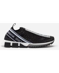 Dolce & Gabbana Sneakers Sorrento Mit Thermostrasskristallen - Schwarz