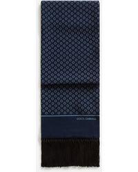 Dolce & Gabbana Écharpe En Soie Imprimée - Bleu