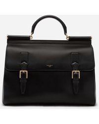 Dolce & Gabbana Calfskin Monreale Travel Bag With Heat-Stamped Logo - Schwarz