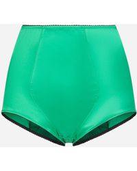 Dolce & Gabbana High-waisted Brief Bottoms - Green