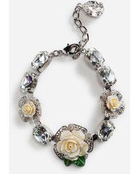 Dolce & Gabbana Armband Mit Rosen - Mettallic