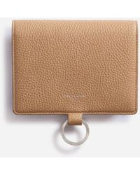 Dolce & Gabbana Large Wallet With Cross-body Strap In Mini Dollaro Calfskin - Natural