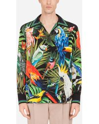 Dolce & Gabbana Silk Hawaii Shirt With Parrot Print - Multicolour