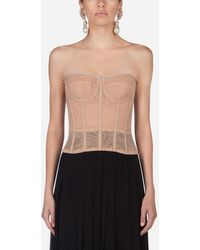 Dolce & Gabbana Tulle Bustier - Pink