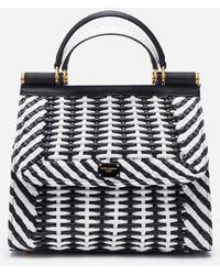 Dolce & Gabbana - Bolso Sicily 58 Mediano En Napa Trenzada - Lyst