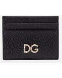 Dolce & Gabbana Leather Card Holder - Black