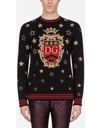 Dolce & Gabbana Cashmere Sweater With Embroidery - Black