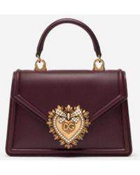 Dolce & Gabbana Small Smooth Calfskin Devotion Bag - Lila
