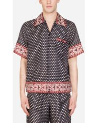 Dolce & Gabbana Hawaii Shirt In Bandana Print - Multicolour