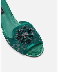 Dolce & Gabbana Slippers - Green
