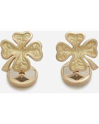 Dolce & Gabbana Boutons De Manchettes Good Luck En Or Jaune - Métallisé