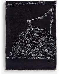 Dolce & Gabbana - Schal Modal Letter-Print - Lyst