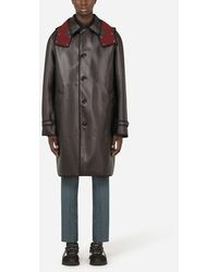Dolce & Gabbana Coated Canvas Trench Coat With Hood - Multicolor