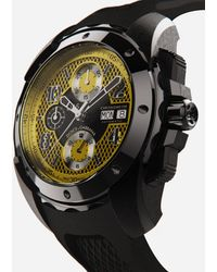 Dolce & Gabbana Ds5 Watch In Steel With Pvd Coating - Black
