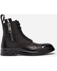 Dolce & Gabbana - Ankle Boot In Summer Calfskin With Immersion Finish - Lyst