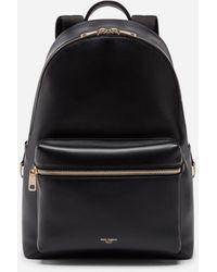 Dolce & Gabbana Calfskin Vulcano Backpack - Black