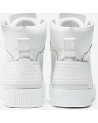 Dolce & Gabbana Miami High-top Trainers In Calfskin Nappa - White