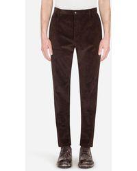 Dolce & Gabbana Corduroy Pants - Marrone