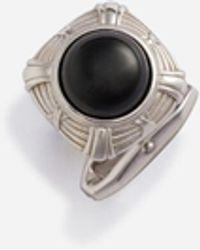 Dolce & Gabbana Silver Cufflinks With Stone - Mehrfarbig