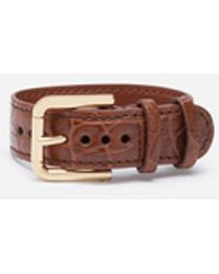 Dolce & Gabbana - Crocodile-Print Leather Bracelet - Lyst