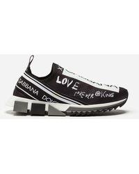 Dolce & Gabbana Sneakers Sorrento Estampado Grafiti - Negro