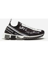Dolce & Gabbana Sneaker Sorrento Mit Graffiti-Print - Schwarz