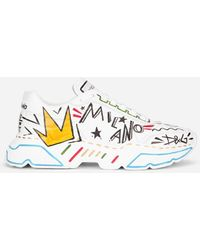 Dolce & Gabbana - Hand-painted Calfskin Nappa Daymaster Sneakers - Lyst