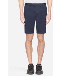 Dolce & Gabbana Stretch Cotton Bermuda Shorts - Azul