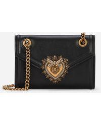 Dolce & Gabbana Mini Devotion Bag In Smooth Calfskin - Negro