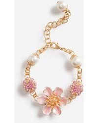 Dolce & Gabbana Bracelet With Decorative Rhinestone Accents - Multicolore